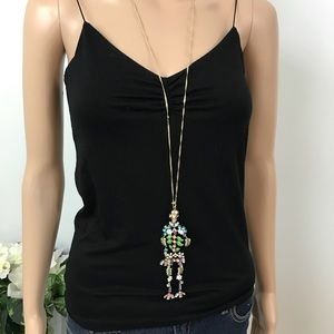 Blooming Betsey Skeleton Pendant Necklace